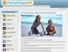Tablet Preview of familyholidaysinuk.co.uk